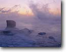 Stock photo. Caption: Lake Superior Leif Erickson Park Duluth St. Louis County,  Minnesota -- parks great lakes united states america cloudy foggy fog landscape landscapes dramatic lakeshore winter cold lakeshores