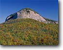 Stock photo. Caption: Looking Glass Rock Looking Glass Rock Scenic Area Pisgah National Forest North Carolina -- united south southeastern states america southeast appalachians granite dome forests appalachian mountain mountains landscape landscapes granite domes fall autumn southeastern states