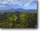 Stock photo. Caption: Blue Mountains   from Bonnie View Port Antonio Jamaica -- mountain caribbean world travel tropical forest forests destination destinations tourist island islands morning ridge ridges tourist landscape landscapes rainforest rainforests