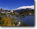 Stock photo. Caption: St. Moritz,  Murezzan Lake   and Piz Vadret Upper Engadin Graubunden Canton,  Switzerland -- Europe international travel travels trip october fall autumn building peak peaks landscape landscapes cold historic historical alps ski are resort skiing lakes rural countryside