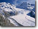 Stock photo. Caption: Mt. Rosa and Gorner Glacier    from Gornergrat Valais Canton The Valais Alps, Switzerland -- mountain mountains snow peaks europe  alpine glacier glaciers capped european landscape landscapes glaciated tourist destination destinations moraine moraines lateral