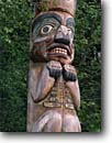 Stock photo. Caption: Yax-te totem pole Auke Bay Village Tongass National Forest Alaska -- poles native carve carving tree trees indian arts artistic spiritual northwest mystical history historical united states america spirts american religious totems power family alaskan